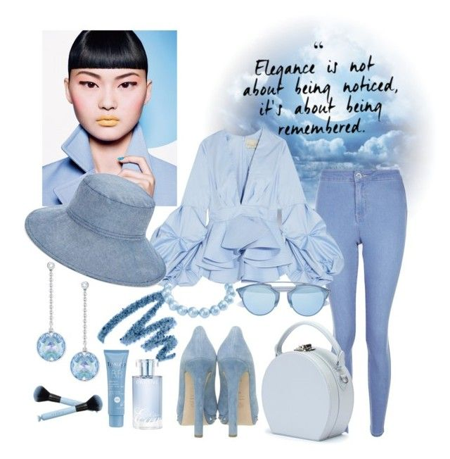 """""""Ice blue themes"""" by hielyaamelia on Polyvore featuring New Look, Johanna Ortiz, Handle, Alexander McQueen, Vera Bradley, Swarovski, Yves Saint Laurent, Orlane, Thalgo and Bling Jewelry"""