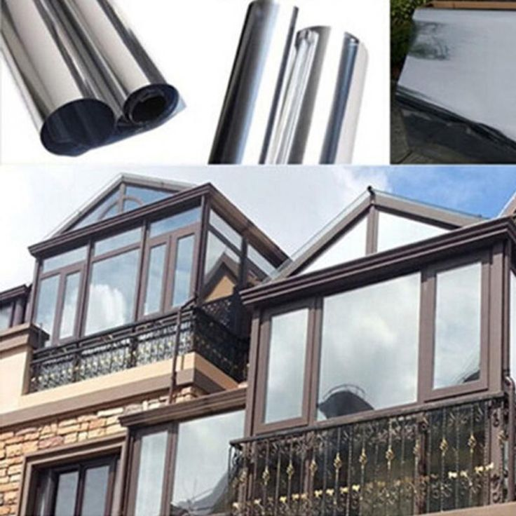 2M*50CM Window Film One Way Mirror Insulation Stickers Solar Reflective