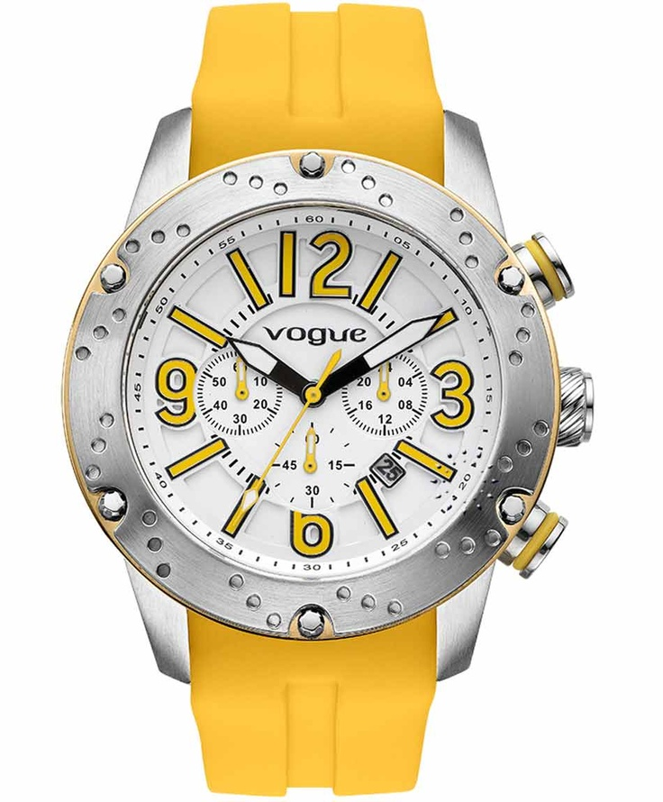 VOGUE Spirit Chrono Yellow Rubber Strap Η τιμή μας: 212€ http://www.oroloi.gr/product_info.php?products_id=31624