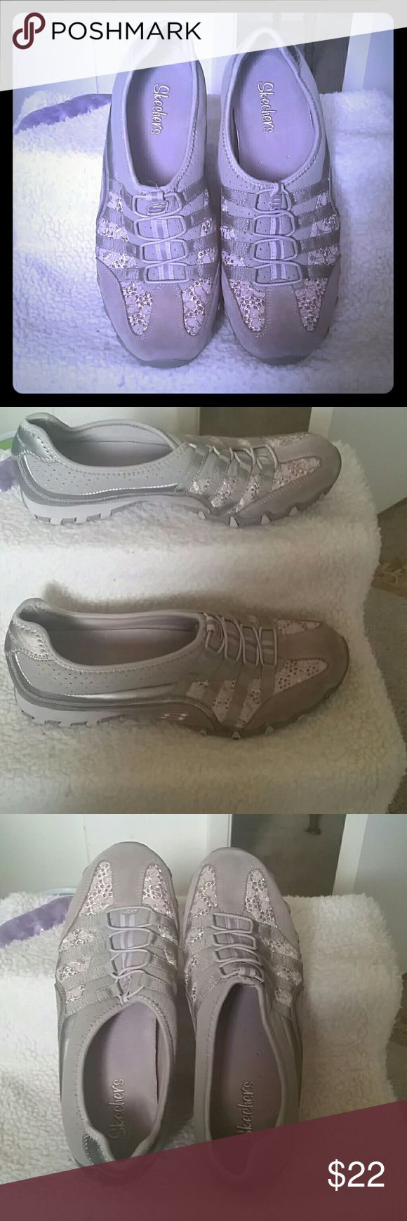 Skecher  Shoes Only worn twice b/c they are a little too snug on my feet.  Still in excellent condition!!  Very clean & no marks or scuffs. Skechers Shoes