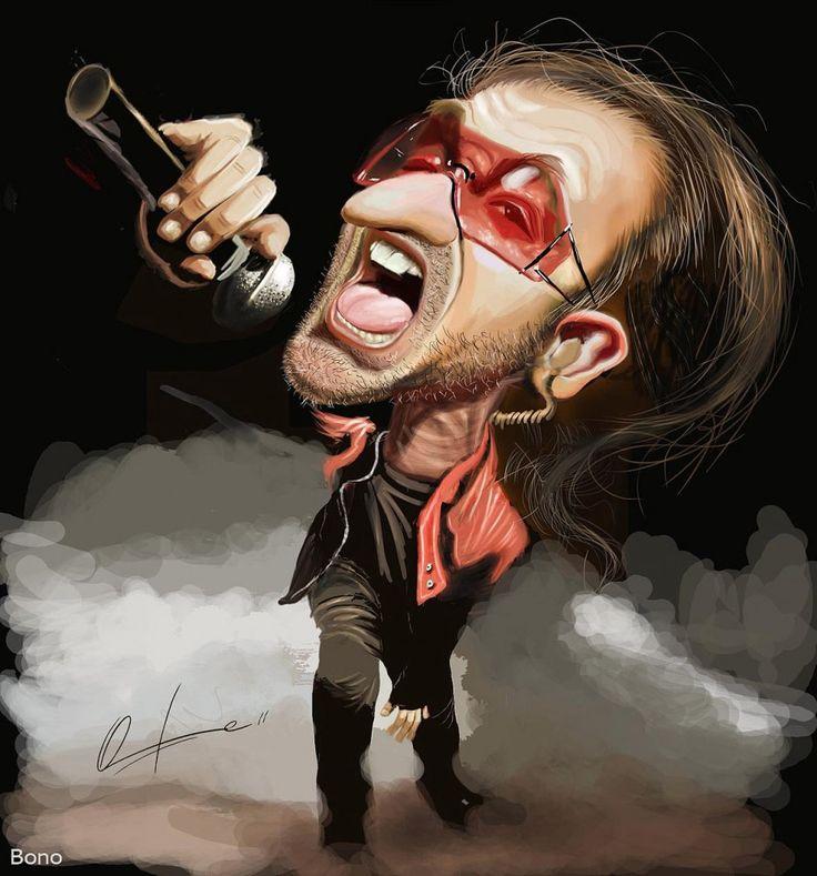 Caricatura de Bono.