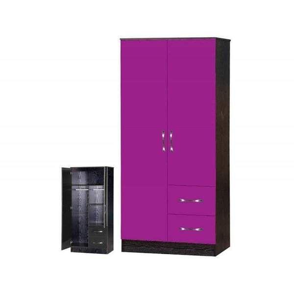 Eco Stripe 2 Door Wardrobe Schardt 2 Door Wardrobe Tall Cabinet Storage Locker Storage
