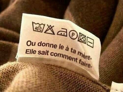logos pull, étiquette pull, comment laver ?, logos lavage, humour tricot,