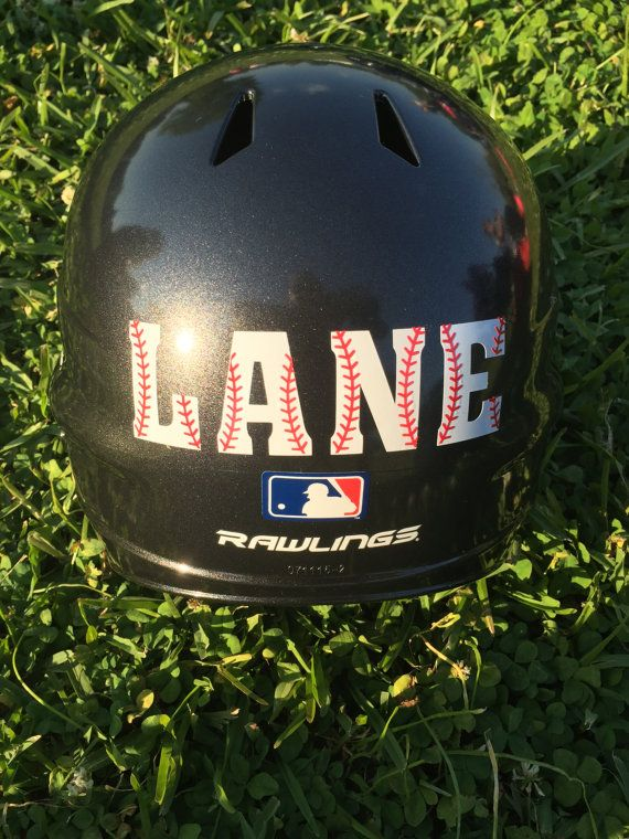 Baseball Helmet Decal Personalized Baseball by BriarPatchDesignsLA