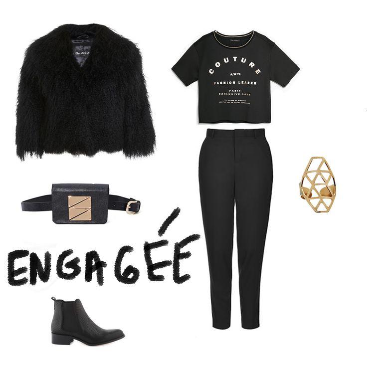 Thème noir-noir charismatique. http://parisunderwear.fr/veste-fourrure-noir-charismatique/
