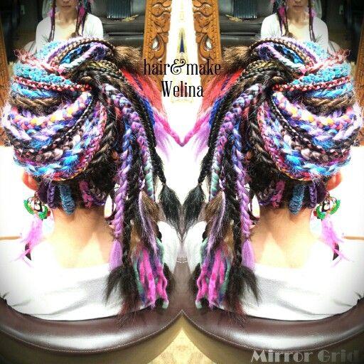 インドへ行ってらっしゃーいhair カラフルなミックスブレーズ♥ ありがとうございました  #braids #trip #india #rave #party #hairstyles #派手髪 #partypeople  #インド #旅行 #ブレーズ #カラフル #編み込み #髪の毛洗わなくていいスタイル #頭皮の日焼けに注意 #毛糸 #ニットブレーズ #Welina #hitomiyanagida #myworks #美容室 #お客様photo #まやちゃん #感謝 #nepal #india #knit #colorful #colorfulhair