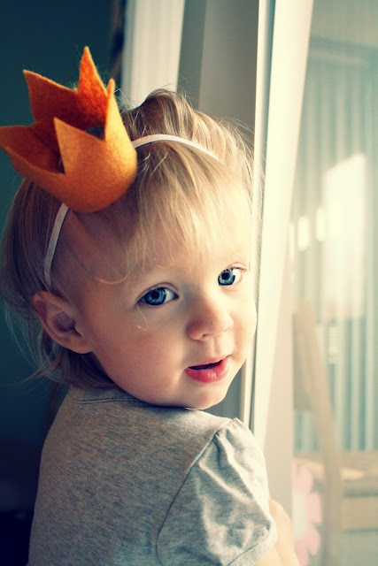 felt crown- oranje kroon