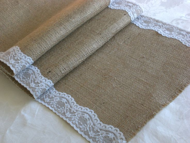 Hessian and Lace Table Runner: 1m | Felt