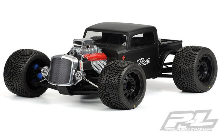 This is a Rat Rod Clear Body for Monster Trucks. Pro-Line is bringing the…