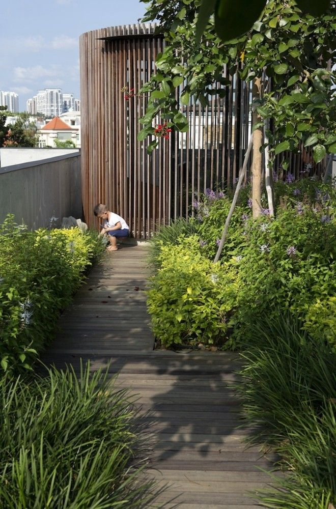 The Courtyard House / Formwerkz Architects | Gardens & Landscaping