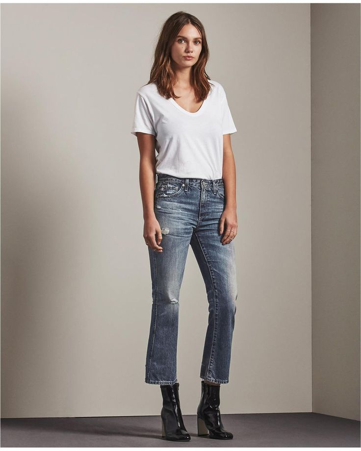 AG Jeans | Blue The Jodi Crop | Lyst
