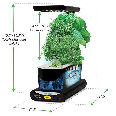 Miracle-Gro AeroGarden Sprout Led with Gourmet Herb Seed Pod Kit - Black