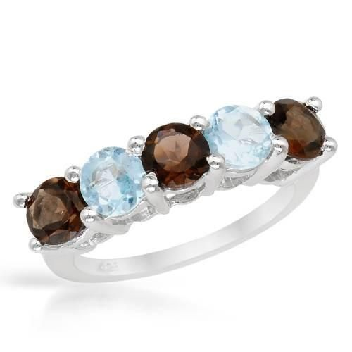 Ring With Beautiful Topazes - Size 7 on #iDealSmarter