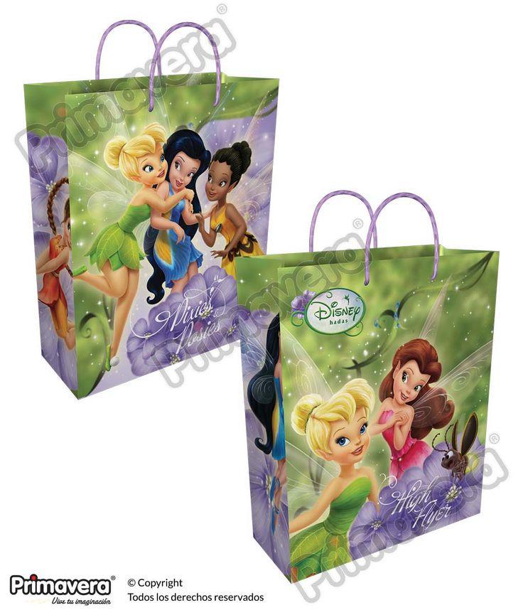 Bolsa Regalo Premium Tinkerbell http://envoltura.papelesprimavera.com/product/bolsa-regalo-personajes-nina-premium-hadas-2/