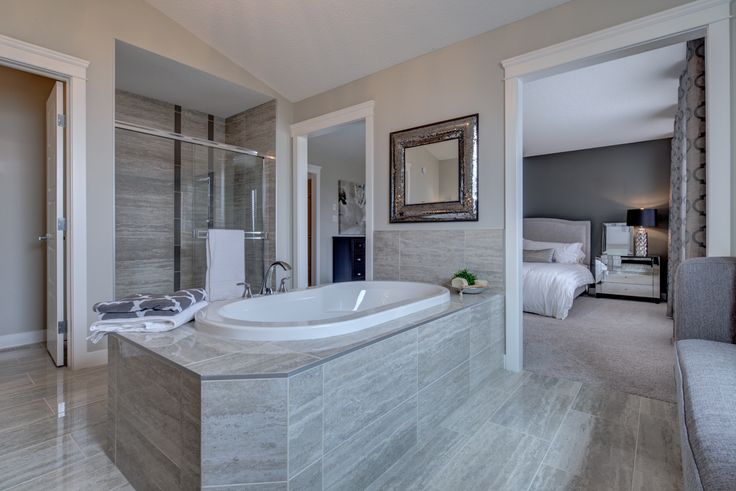 What a beautiful ensuite! So luxurious, like your own private spa at home...