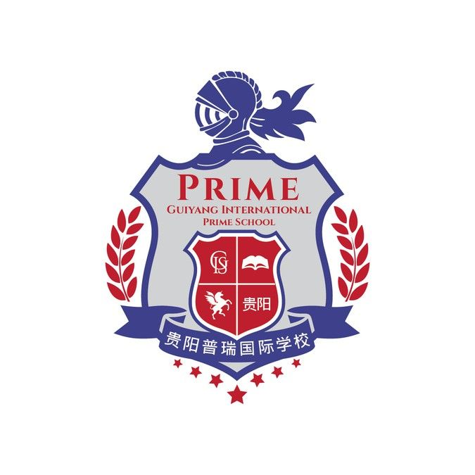 Prince William   Downton Abbey, Traditional British International School logo/crest design by creative kiosk