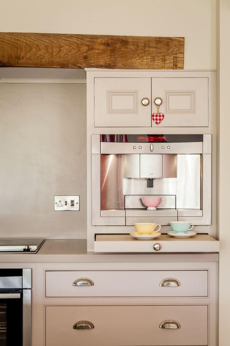 Anyone for coffee? Fabulous and functional appliances set into this quirky, hand-crafted kitchen.