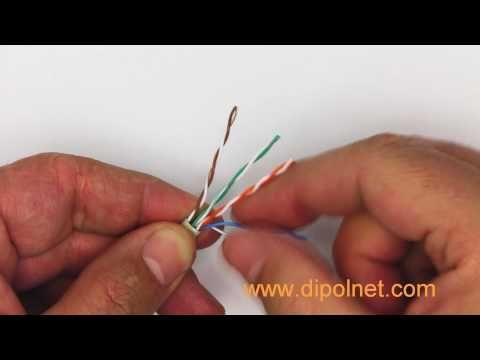RJ45 auf einem UTP-Kabel - Montage - YouTube