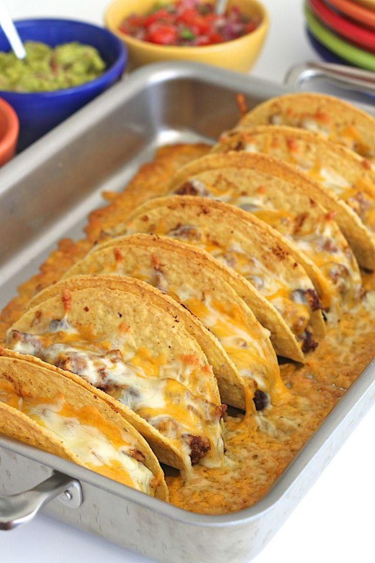 Turkey and Black Bean Baked Tacos | Recipe | Tacos, Black ...