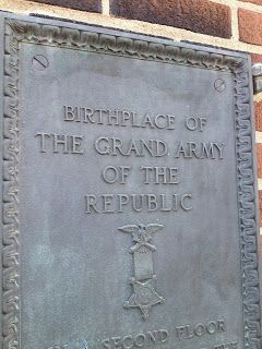 """Picture Decatur"" (Decatur IL): Downtown Plaques; Birthplace of the Grand Army of the Republic (GAR)"