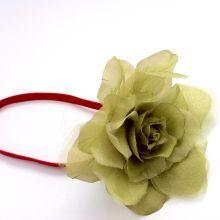 Κορδέλα+με+μεγάλο+πράσινο+λουλούδι