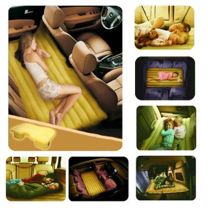 """Fuloon Car Travel Inflatable Bed Airbed Air Bed Overnighter With Pump For Cushion Camping Tourism Relexing Your Travelling In Car For Family 53""""(L)x34.6""""(W)x16.5""""(H): Amazon.co.uk: Car & Motorbike"""