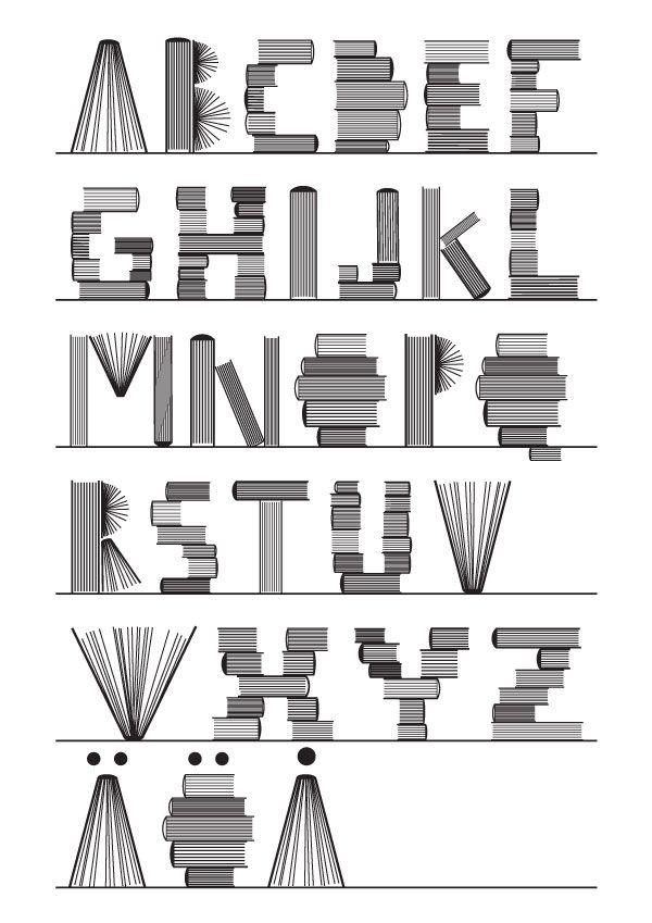 Abecedario de libros / Alphabet of books
