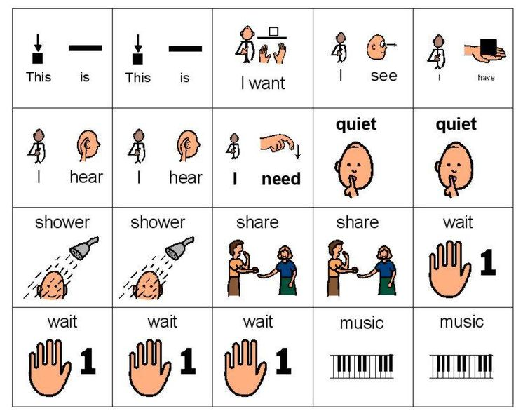 2 x2  Picture Schedule Sentence - Initial Sentence Strips - PECS is a specific system for teaching language and communication, it is not just a visual support system using icons.