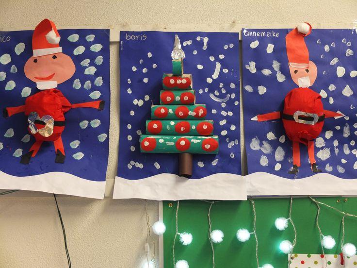 Kerst werkjes door kleuters.