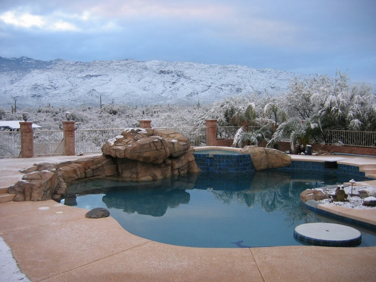Tucson desert landscaping and pool swimming pools for Garden pool in arizona