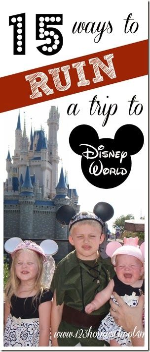 Great tips on what NOT to do for a magical Disney vacation!