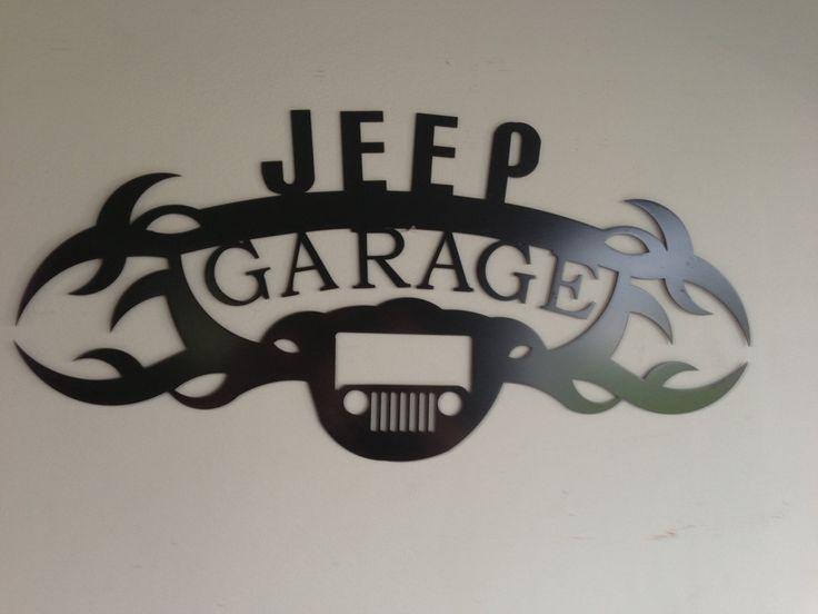 Jeep GARAGE SIGN by SCHROCKMETALFX on Etsy https://www.etsy.com/listing/111090852/jeep-garage-sign
