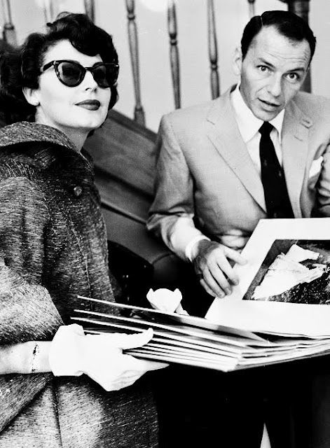 My great great Aunt Ava Gardner and her husband Frank Sinatra.