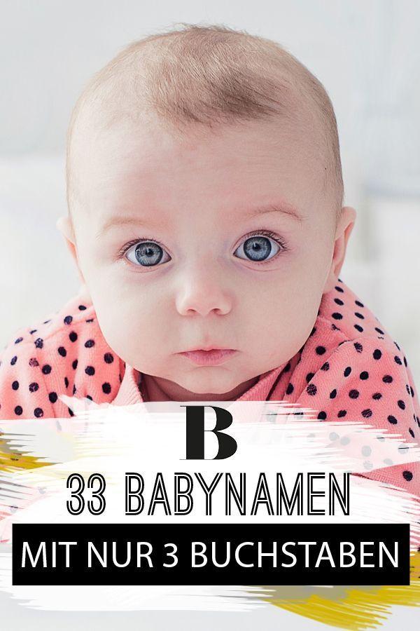 Schon Kurz 33 Babynamen Mit Nur 3 Buchstaben Babynamen