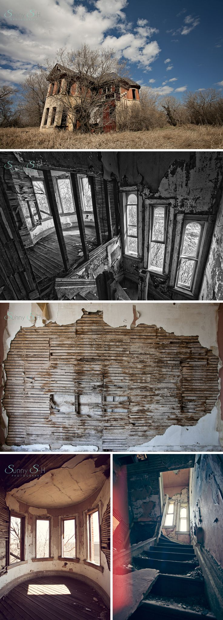 abandoned mansion outside carberry, manitoba