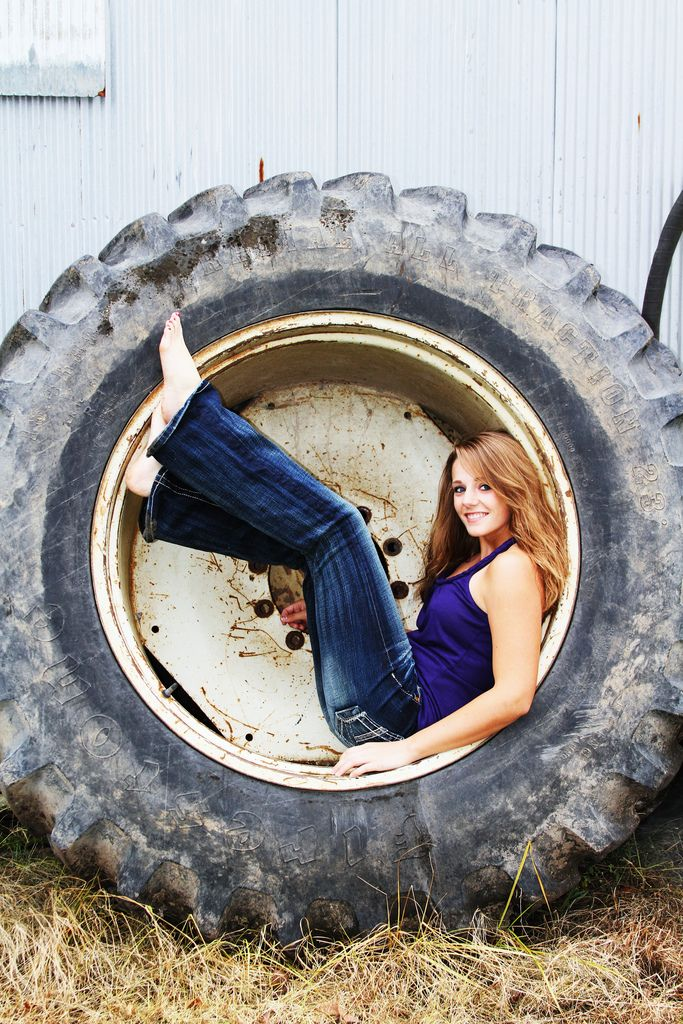 Barefoot... they see me rollin'... inside a big tire! Don't worry, I'm just kidding...