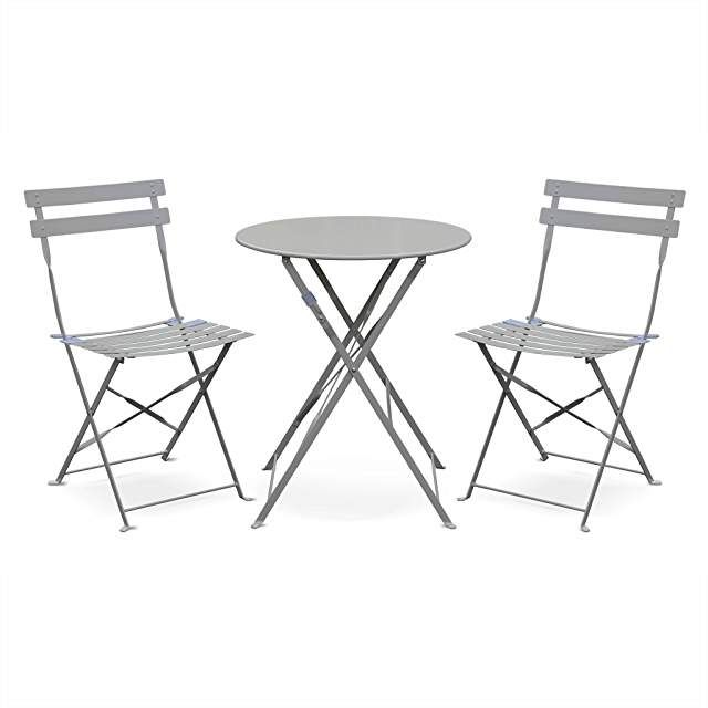 Amazon Fr Ensemble Salon Complet Chaise Pliante Salon De Jardin Table Bistrot