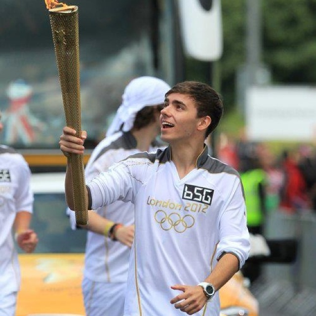 Nathan Sykes running with the Olympic torch!
