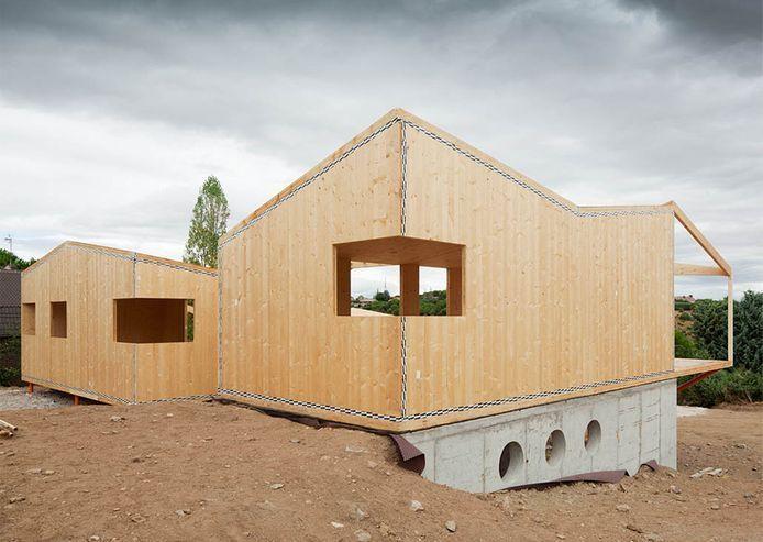 Contralaminado klh edificios en madera contralaminada - Cabanas de madera en madrid ...