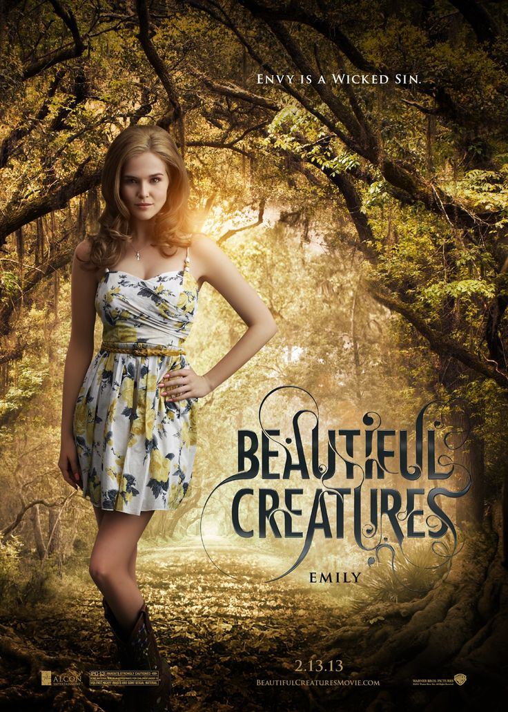"""Envy is a wicked sin.    """"Like"""" and """"Share"""" this new character banner if you think Zoey Deutch looks fabulous as Ethan's ex and mean girl, Emily Asher, in Beautiful Creatures!"""