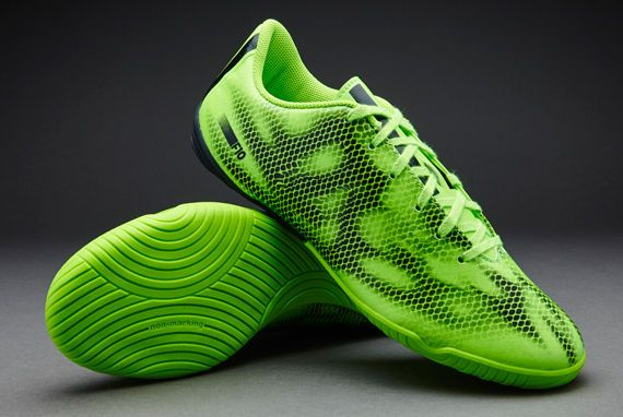 Mens Adidas F10 IN Indoor Solar Green Football Shoes Boots Trainers