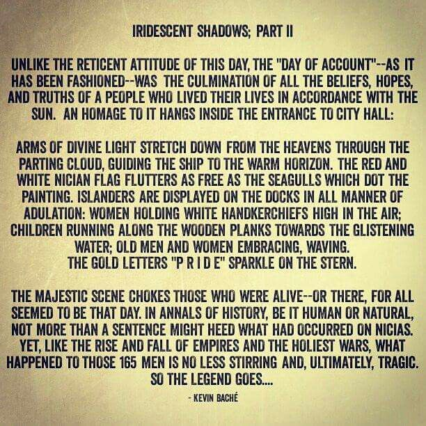 """""""IRIDESCENT SHADOWS; Part II,"""" by Kevin Baché #iridescentshadow #iridescentshadows #KevinBaché #story #stories #island #water #memory #book #books #novel #novels #country #history #quote #quotes"""