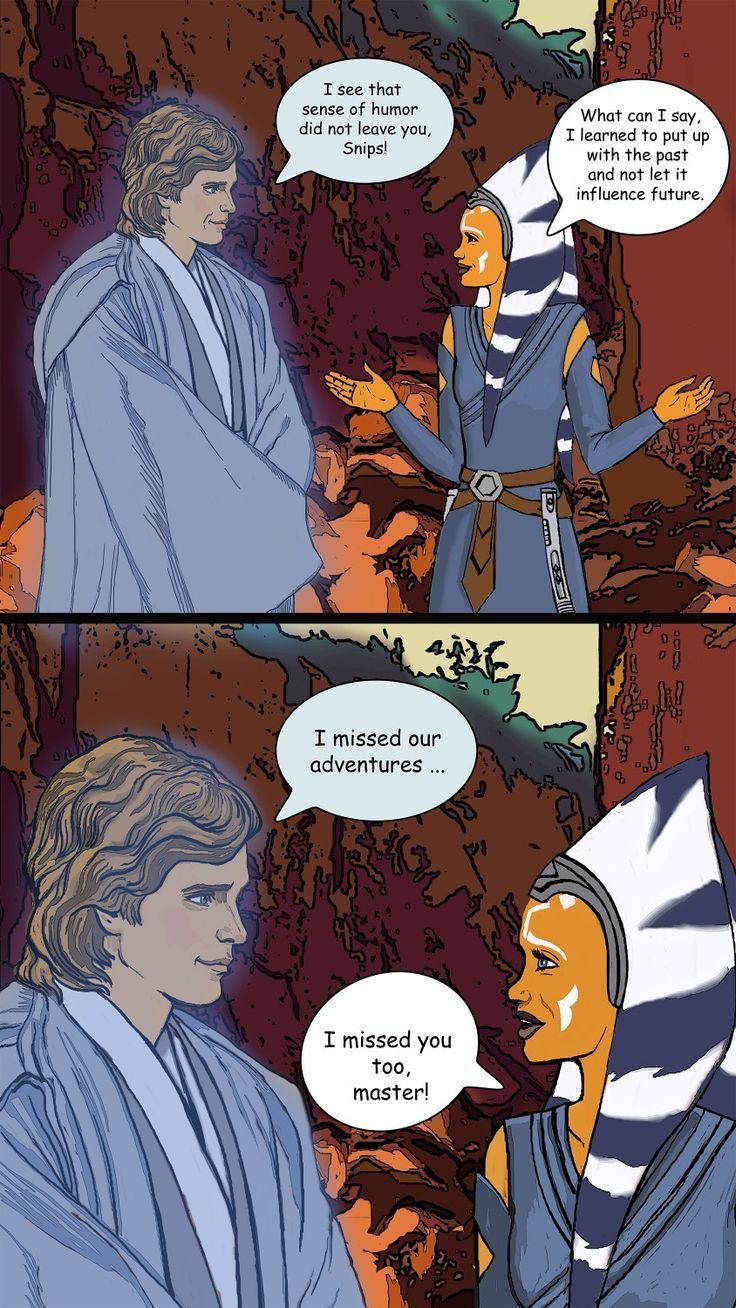 Ahsoka Tano and Anakin Skywalker | Star wars comics, Star