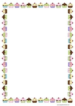 This page border was designed to match my popular birthday chart cupcakes that I…