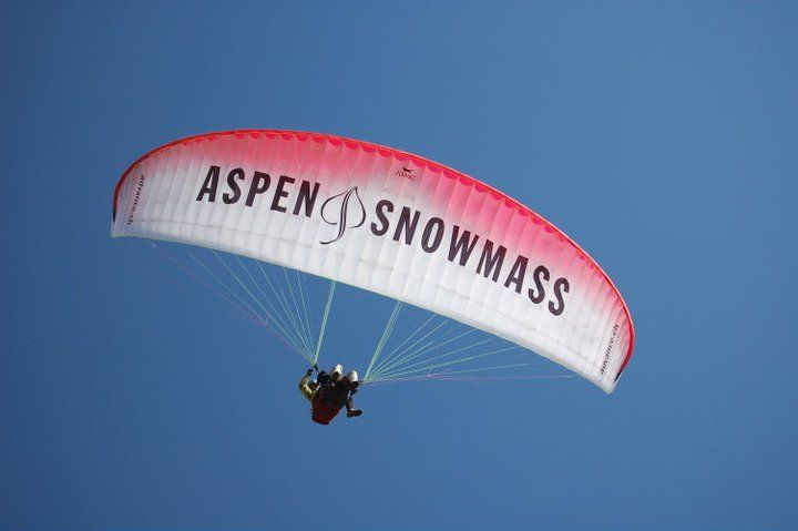 you learn quickly that there are many ways to get down the mountain to the beautiful valley below, and on skis is only one of them. the most dramatic and exhilarating route is through the sky on a tandem jump under a parachute. aspen paragliding runs jumps year-round, no experience necessary.