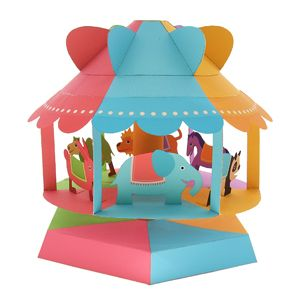 Wind powered merry-go-round - Toys - Paper Craft - Canon CREATIVE PARK  http://cp.c-ij.com/en/contents/2023/w-merry-go-round/index.html