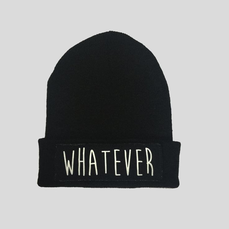 Whatever Not Interested Style Winter Beanie Headwear Hipster Indie Swag Dope Hype Black Hat Beanie Mens Womens Cute Slouchy Hat by IIMVCLOTHING on Etsy