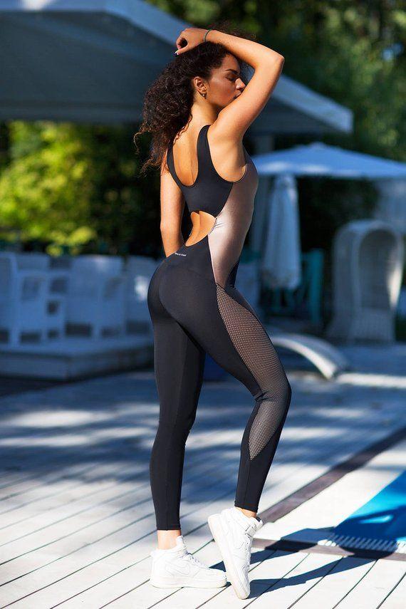 Damen Sport YOGA Training Fitnessstudio Fitness Leggings Hose Mädchen Overall