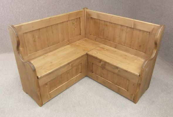 Handmade in Great Britain, this versatile pine corner monks bench can be produced in various sizes to suit all requirements. - See more at: http://www.peppermillantiques.com/corner-monks-bench-handmade-in-solid-pine/#sthash.J2QCu7Kw.dpuf