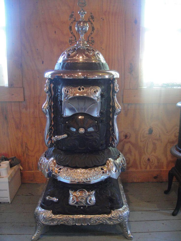 Antq. wood/coal burn parlor stove